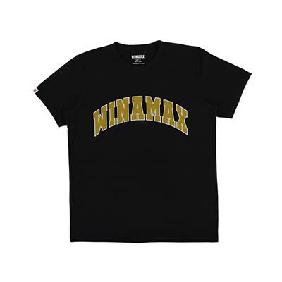 "T-Shirt Homme noir logo ""Varsity"" Blanc/Or"